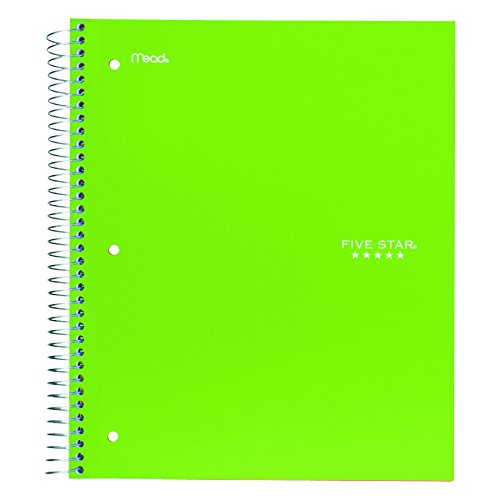 """043100060444 - Five Star Spiral Notebook, 1 Subject, College Ruled Paper, 100 Sheets, 11"""" x 8-1/2"""", Color Will Vary (06044) carousel main 1"""