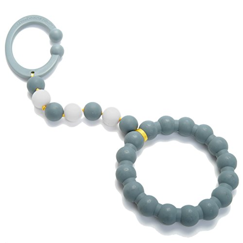Chewbeads Gramercy Baby Teething Car Seat Toy and Stroller Toy (Grey). 100% Safe Silicone Infant Teething Toy for Car Seats and Strollers. BPA-Free. Metal-Free. Phthalate-Free.