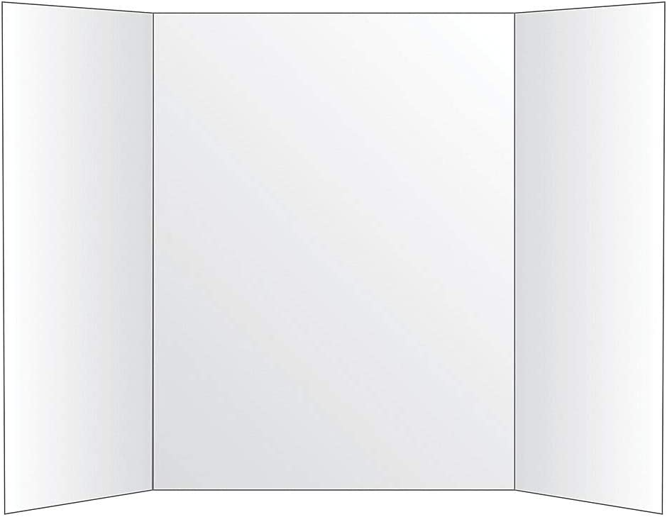Office Depot 72% Recycled Tri-Fold Corrugate Display Board, 36in. x 48in, White, 26991 41FmBCbfuQL