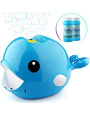 Growsland Automatic Bubble Machine With 2x70ml Liquid For Kids Boys Girls Bubble Toys Portable Bubble Maker With 3000+ Bubbles Per Minute Outdoor Toys Bubbles Games Gifts For Garden Party Wedding