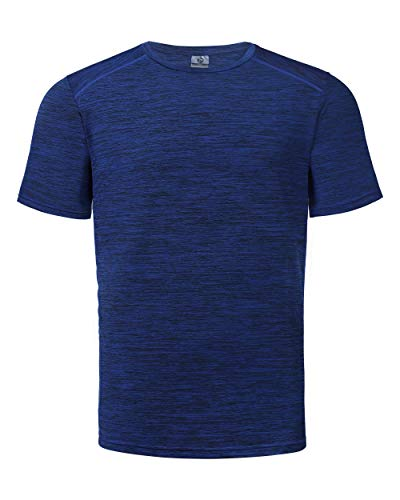 Outdoor Ventures Mens Athletic Stretch T-Shirts Moisture Wicking Dry Fit Short Sleeve Tee Shirt Deep Blue ()
