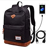 Lmeison School Backpack, Travel Laptop Backpack Water-Resistant Cool Guys Bookbag with USB Charging Port Lightweight...