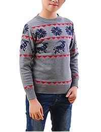 MFrannie Boys Symmetrical Geometric Star Goat Winter Knits Sweater