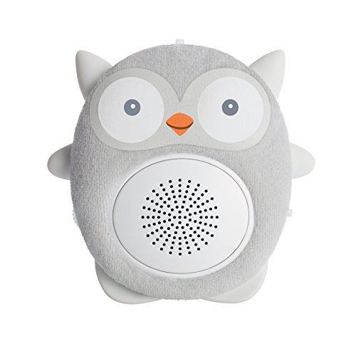 SoundBub, White Noise Machine and Bluetooth Speaker | Portable and Rechargeable Baby Shusher Sleep Sound Soother by WavHello – Ollie the Owl, Gray