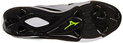 Mizuno Herren Heist IQ Mid Baseball-Schuh Weiß schwarz