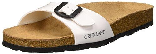 Plage Sara Grunland Femme et Blanc Chaussures Piscine Bianco Bianco de tB4twdqp