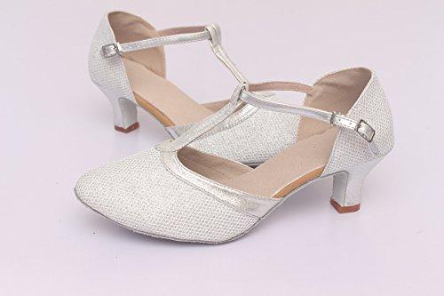 piazza Scarpe ballo ShangYi scarpe UK2 da latino ballano EU34 ballo 2 fondo scarpe da da adulti maglia 7 altezza cm che donne morbido con CN33 amicizia per 5 ballo delle awqdIxqT