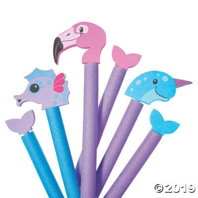 Fun Express Foam Water Creatures for Pool Noodles - Toys - 6 Pieces: Toys & Games
