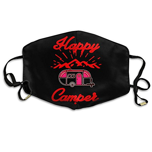 Happy Camper Lady Costume (Happy Camper Camping Anti-Dust Earloop Face Mouth Mask muffle Unisex Breathable Fashion Mask)