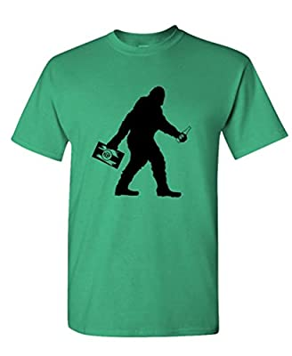 The Goozler Sasquatch Bigfoot with Beer Funny Party - Mens Cotton T-Shirt