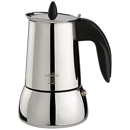 Valira Cafetera INOX, Apta para inducción, 6 Tazas