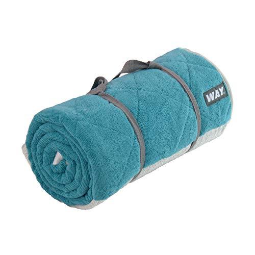 WAYmat Core Exercise Mat – Thick All-Purpose Non-Slip Yoga Towel Mat, Perfect for Hot Yoga, Bikram and Pilates (Ocean)