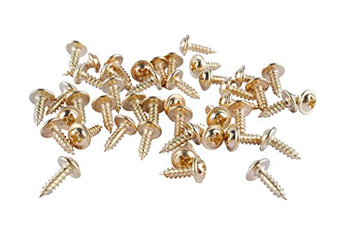 44pc 8mm Mini Brass Hinge Replacement Wood Screws - Great for Arts & Crafts