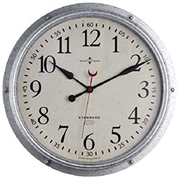 Amazon.com: Better Homes and Gardens Galvanized Wall Clock: Sports ...