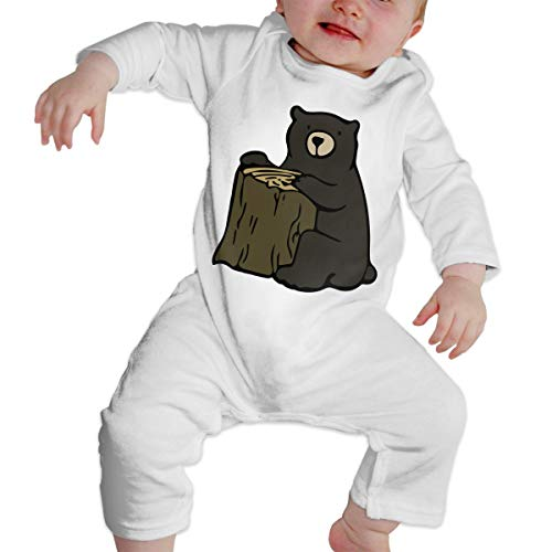 Toddler's Long Sleeves Romper Cute Grizzly Bear 100% Cotton -