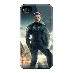Iphone 4/4s GUc4779zPxc Unique Design Trendy Captain America The Winter Soldier 2014 Pictures Scratch Protection Hard Cell-phone Case -KerryParsons