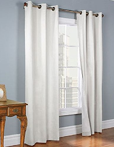 Amazon.com: Gorgeous Home *DIFFERENT SOLID COLORS U0026 SIZES* (#72) 1 PANEL  SOLID THERMAL FOAM LINED BLACKOUT HEAVY THICK WINDOW CURTAIN DRAPES BRONZE  GROMMETS ...