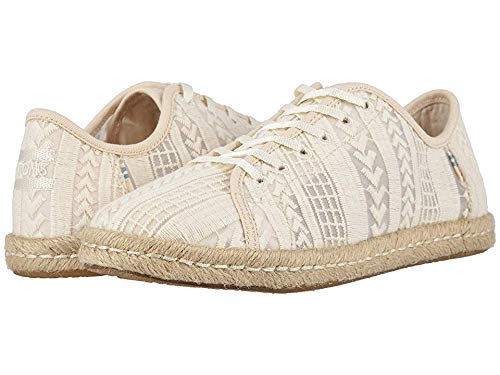 TOMS Women's Lena Natural Arrow Embroidered Mesh 6 B US (Embroidered Dress Mesh Cotton)