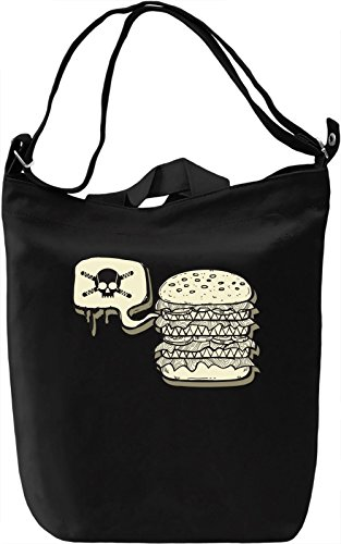 Dangerous burger Borsa Giornaliera Canvas Canvas Day Bag| 100% Premium Cotton Canvas| DTG Printing|