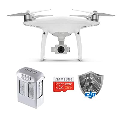 DJI Phantom 4 Pro Quadcopter Drone with Standard Remote Controller - Bundle With 32GB MicroSDHC Card, Spare Flight Battery, DJI 1 Year Care Refresh