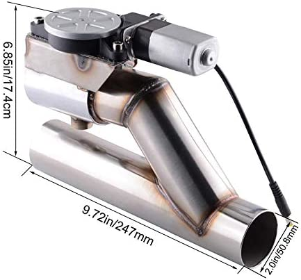 HERCHR Car Electric Exhaust Downpipe Cutout Valve