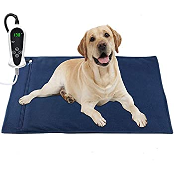 RIOGOO Pet Heating Pad, Electric Heating Pad for Dogs and Cats Indoor Warming Mat with Auto Power Off (X-Large: 32