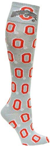 Donegal Bay NCAA Ohio State Buckeyes O Dress Socks, Gray - Pants Lounge Ohio State