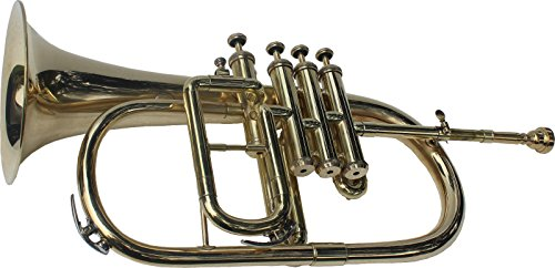 BRAND NEW NICKEL PLATED Bb FLAT 4 VALVE FLUGEL HORN +FREE HARD CASE+MOUTHIPICE by SAI MUSICAL