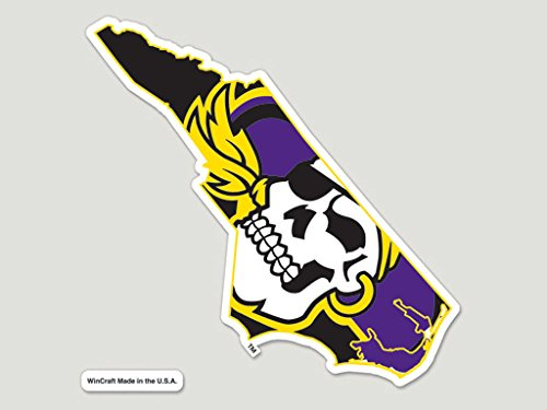 East Carolina Pirates Official NCAA 8 inch x 8 inch (Ecu Pirates)