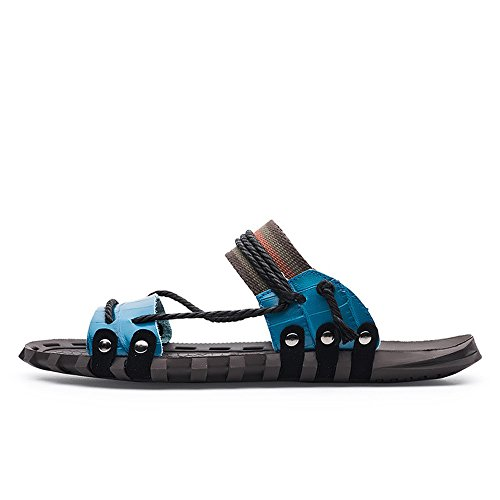 0 Beatalvy cm Blu 28 Blu 5 con 24 comode Blu Design Uomini Pantofole Infradito zqzrxwg61