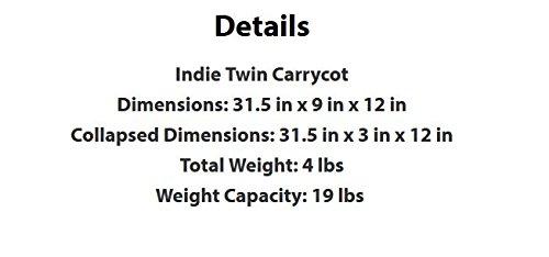 Bumbleride Indie Twin Carrycot, Jet Black