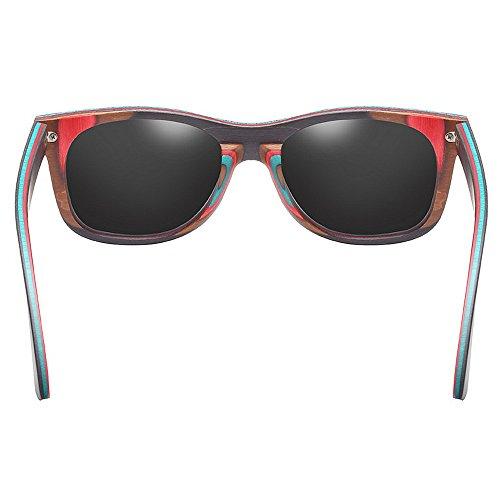 Black Unisex Yxsd Black SunglassesMAN Full polarizadas Frame Color Eyewear Retro Classic Gafas de Sol OxYx1Zq