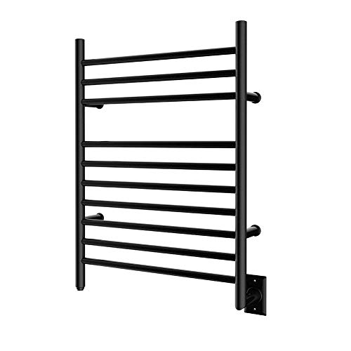 - HEATGENE Hot Towel Warmer for Bath Radiant Hardwired Heated Drying Rack Matte Black