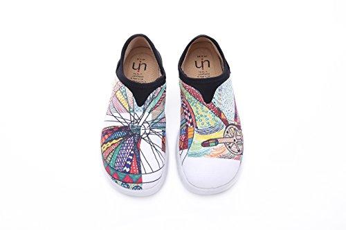 Uin Vrouwen Wiel Canvas Gedrukte Strook Op Schoen Multicolore