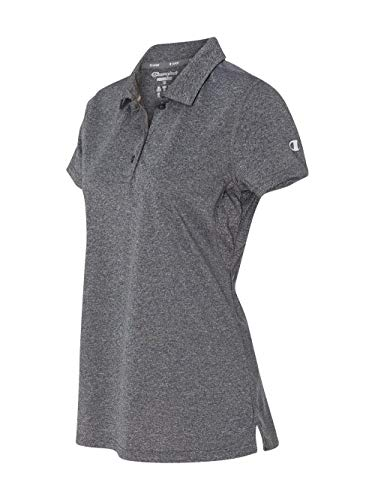 Champion Women's Short Sleeve Double Dry Performance Polo, Slate Grey Heather, X-Large ()