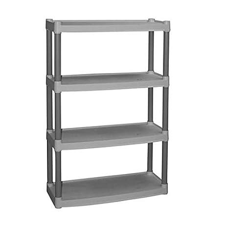 amazon com plano 4 shelf storage unit light taupe kitchen dining rh amazon com