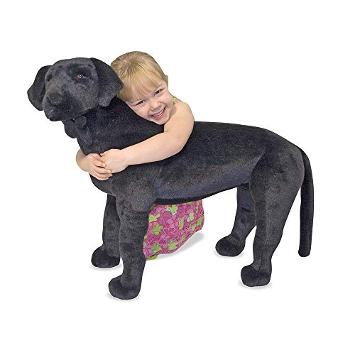 Lab Stuffed Yellow - Melissa & Doug Black Lab Giant Stuffed Animal (Wildlife, Soft Fabric, Beautiful Black Lab Markings, 30.5