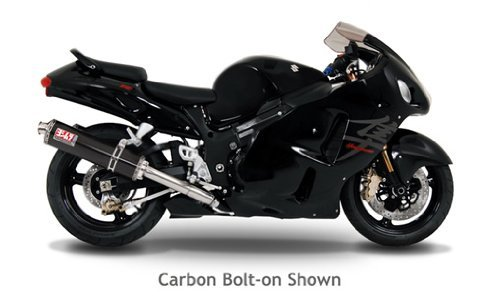 99-07 SUZUKI HAYABUSA: Yoshimura TRS Bolt-On Exhaust (Street/Carbon Fiber/Stainless Steel)