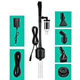 Hygger 12V DC 5-in-1 Aquarium Gravel Vacuum Cleaner Water Changer Kit Electric Fish Tank Cleaning Tools Siphon Pump Sand Washing