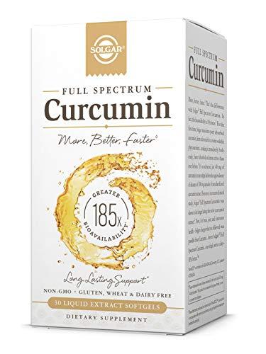 Solgar - Full Spectrum Curcumin - 30 Liquid Extract Softgels - Brain, Joint, & Immune Support Supplement, Anti inflammatory, Antioxidant - Non-GMO, Gluten Free - 30 Servings