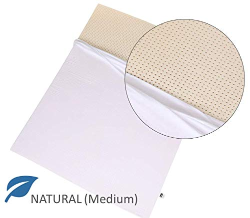 100% Natural Latex Mattress Topper - Medium Firmness - 2