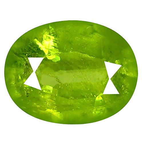 Deluxe Gems 1.67 ct Oval (8 x 7 mm) Pakistan Un-Heated Pakistan Sphene Natural Loose ()