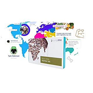 Living DNA - Starter Kit, DNA Testing, Global ancestry, DNA Matching, Nutrition Report, Fitness Insight