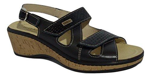 SUSIMODA , Damen Sandalen schwarz schwarz