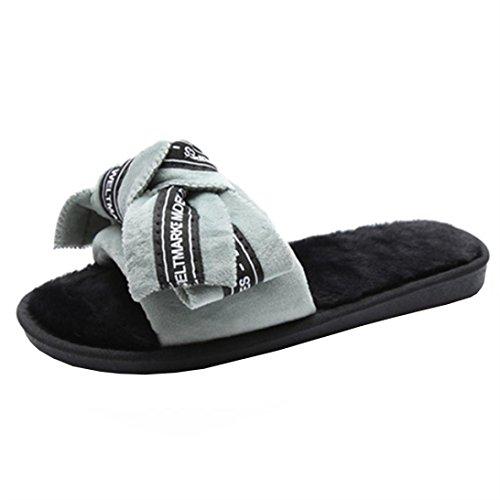 Zapatillas de Plano con Corbata Mujer Flip libre Al de Zapatos playa diapositivas mujer aire Color Interior letra Imprimir mujer mezclado Sandalias Verde Flop de de Verano moño Chanclas g80nxwaB0