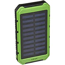 Solar Charger - Creative Edge(TM) Solar-5 Solar Panel 5000mAh Water/ Shock/ Dust Resistant Portable Backup Power Bank Dual USB output, Fits most USB-charged devices (Apple Lightning Adapter Included)