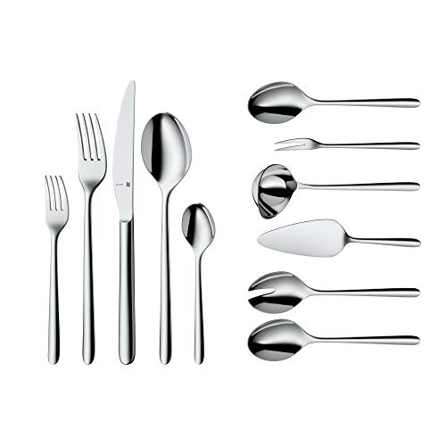 WMF Cutlery Set Flame Cromargan Protect Stainless Steel Brushed Extremely Scratch Resistant with Inserted Blade - 66-Pieces for 12 People