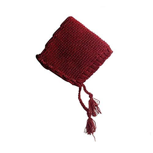 sólido Invierno Rojo Correa Baby Gorro Hat Color Cono de bebé Alian bebé de Punto Gorro Punto para Invierno Sombrero Lana HAWqWBvZw5
