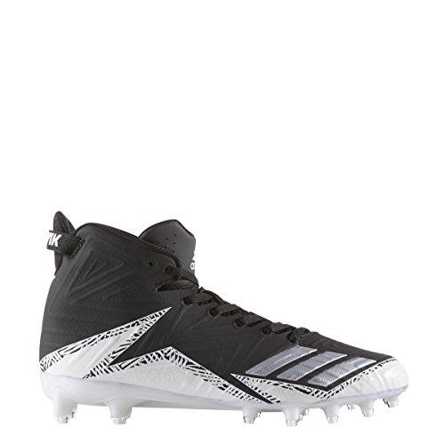 Adidas Freak X Carbon Mid Cleat Mens Football Core Nero-argento Metallizzato-bianco