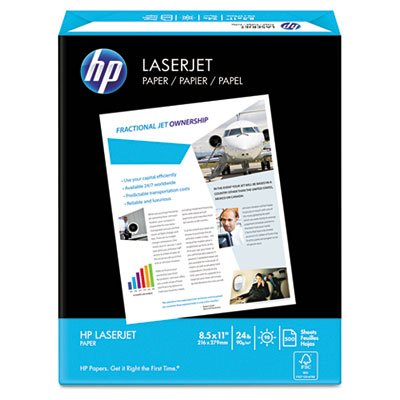 LaserJet Paper, 98 Brightness, 24lb, 8-1/2 x 11, Ultra White, 500 Sheets/Ream, Sold as 1 Ream, 500 per (Bright White Presentation Paper)